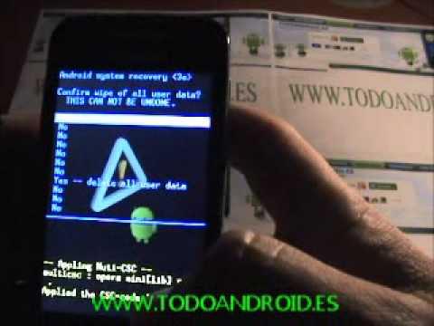 Como desbloquear un móvil android (Samsung Galaxy Ace) reseteo modo fabrica