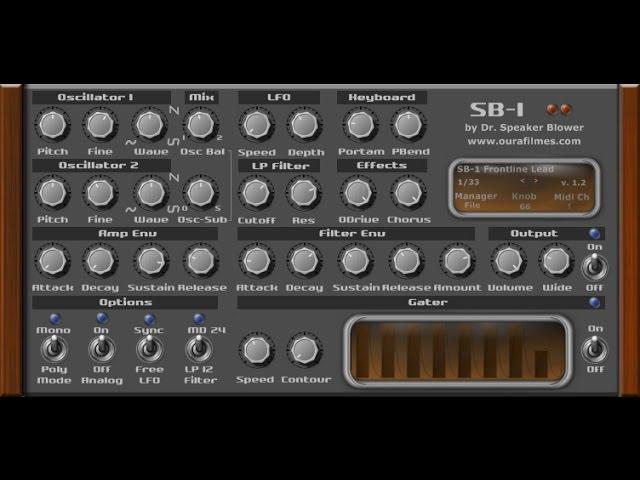 SB-1 VSTi DEMO - FREE VST SYNTH - Classic analogue synthesizer