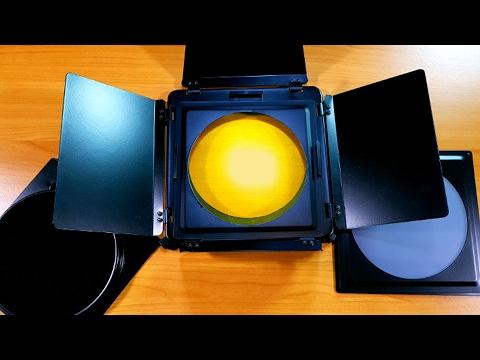 Prezentare sistem de voleti, filtre colorate si grid pentru reflector cu diametrul de 18cm