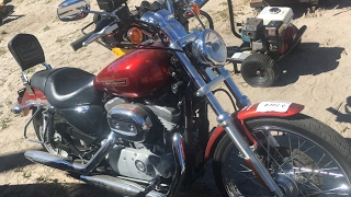 5. 2008 Harley Davidson 883 sportster motorcycle at a auction