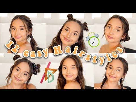 12 EASY HAIRSTYLES FOR BACK TO SCHOOL 2018  Short and Long Hair Hairstyles