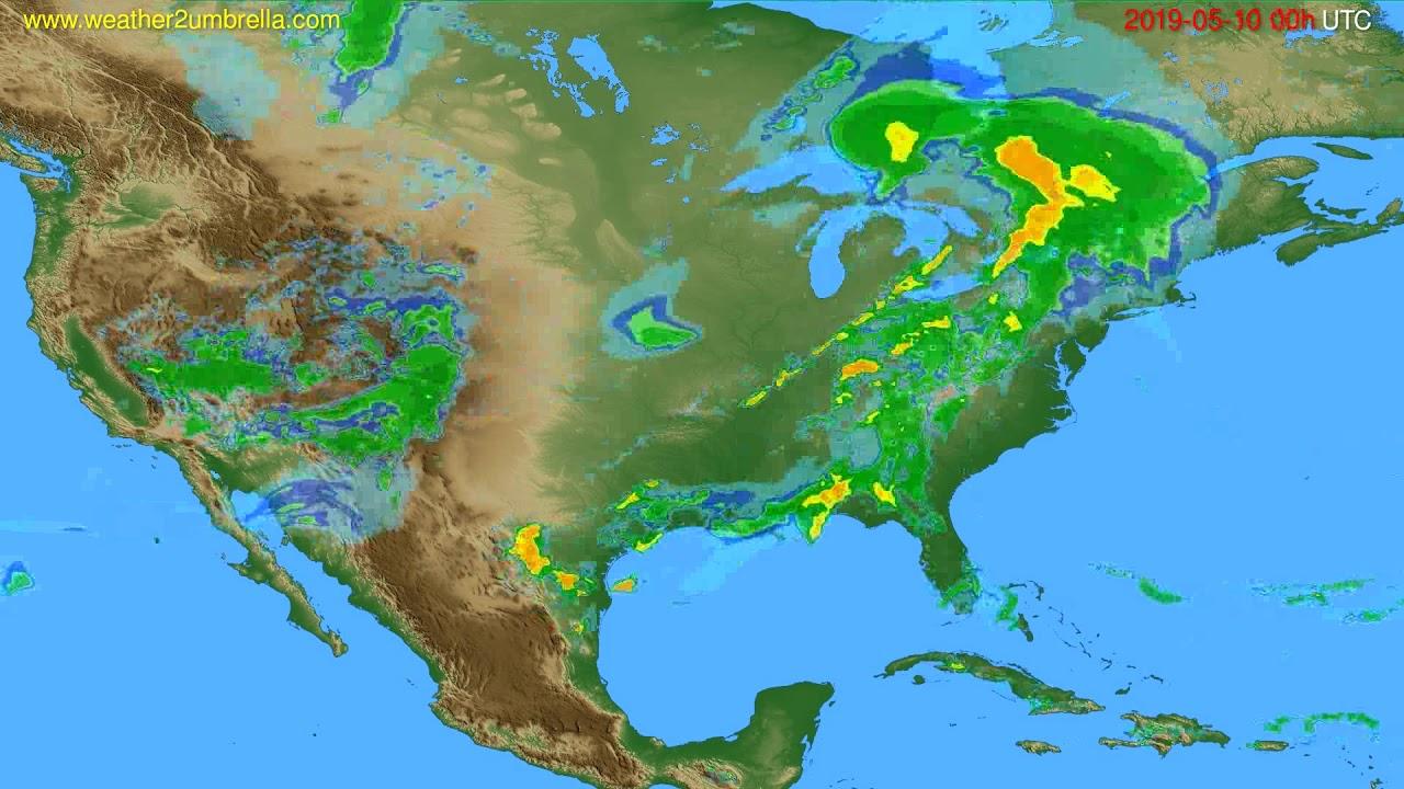 Radar forecast USA & Canada // modelrun: 12h UTC 2019-05-09