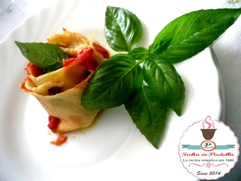 rose di crespelle con salame mozzarella e melanzane - ricetta