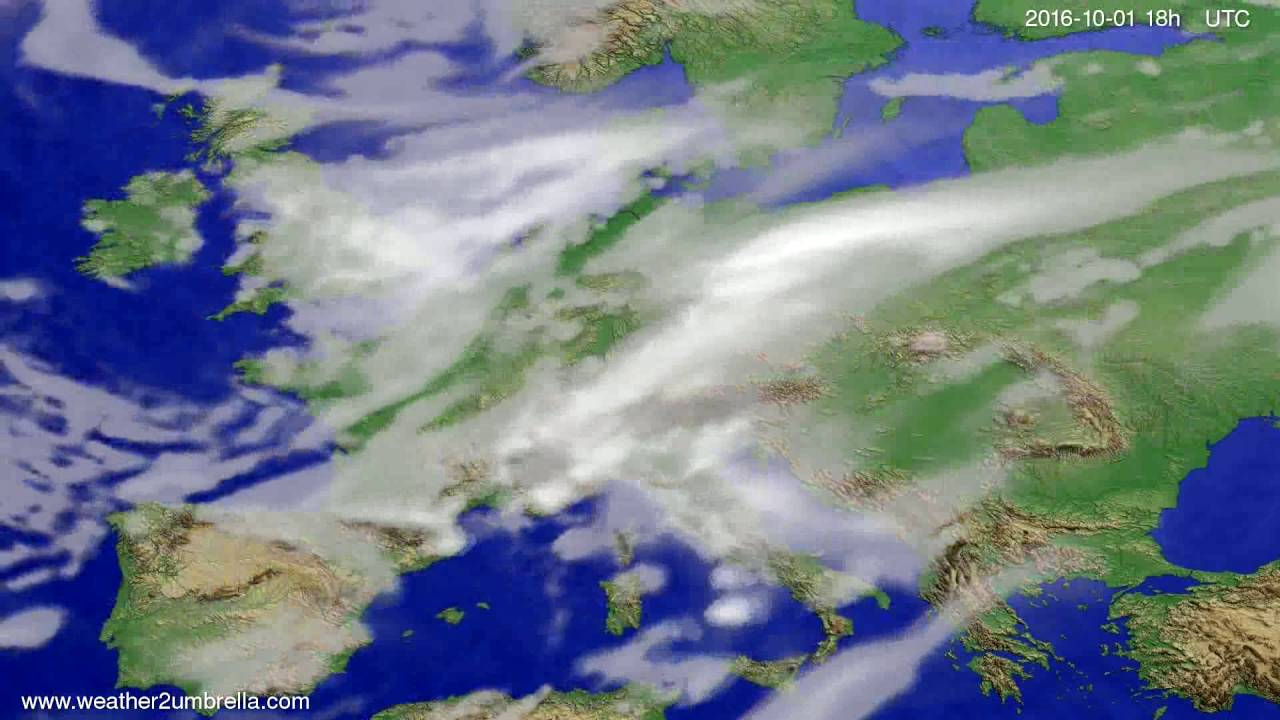 Cloud forecast Europe 2016-09-28