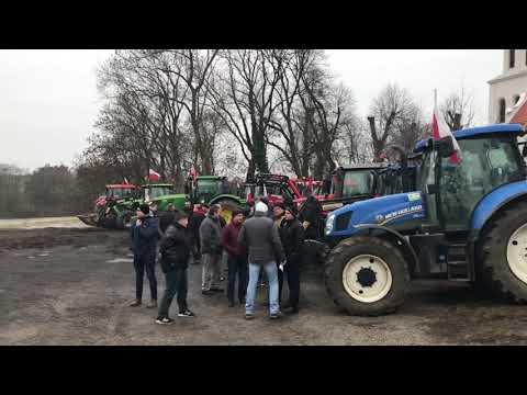 Wideo1: Protest rolników w Strzelcach Wielkich