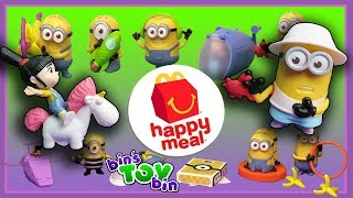 """It's Happy Meal Review Time and we are opening up all 12 of the new toys based on Despicable Me 3... so there are LOTS of Minions!  Plus, SHOUT OUTS to some of our awesome viewers!!SUBSCRIBE and never miss a video! http://www.youtube.com/subscription_center?add_user=BinsToyBinAbout Bin's Toy Bin →Adventures in toy collecting! Join husband and  wife team, Bin and Jon (and their son Teagan, too) as they review the latest (and sometimes not-so-latest) toys in their own unique way! Check back daily for new videos!  Also be sure to visit our 2nd YouTube channel for our Family Vlogs!MORE FUN TOY VIDEOS TO ENJOY ON OUR FAMILY-FRIENDLY PLAYLISTS:Despicable Me 2 Happy Meal Review (2013) - https://www.youtube.com/watch?v=b-MWvW4mbtcMinions the Movie Happy Meal Toys (2015) - https://www.youtube.com/watch?v=R5lng67agk0Previous Happy Meal Review Time (Super Mario) - https://www.youtube.com/watch?v=YGVqRDyRDn4&list=PLjr8-7syO5b2c0da9x4D23XcULUZg9ReQ&index=1GET YOUR OFFICIAL BIN'S TOY BIN GEAR! →  http://binstoybin.spreadshirt.com/Follow Bin & Jon → Bin's Toy Bin Family Vlogs (Our 2nd YouTube Channel): http://www.youtube.com/BinsToyBinTravelOfficial Site: http://binstoybin.com/IG: @binstoybinFB: https://www.facebook.com/BinsToyBinSnapchat: real_binstoybinTwitter: @BinsToyBinG+: https://plus.google.com/+BinsToyBinMUSIC USED:""""Mr. Pink"""" by Topher Mohr and Alex Elena and """"Beach Front Property"""" by Silent Partner from YouTube Audio Library"""