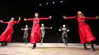 "Georgian folk dance group ""Abkhazeti"". Abkhazian - Svanetian Stylized dance ."