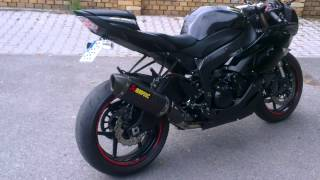 5. Kawasaki ZX6R 2011 Akrapovic slip-on + One38 Design decat pipe, no baffle