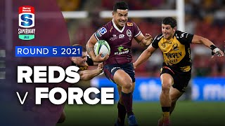 Reds v Western Force Rd.5 2021 Super rugby AU video highlights