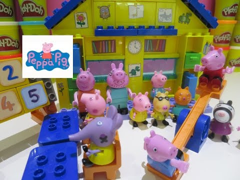 Peppa Pig Playset Toys School Time Fun Construction Block Dctc Argos Reviews