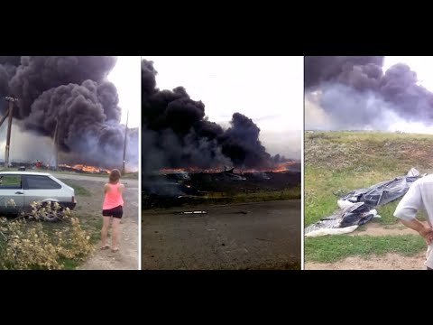 First Moments Of Malaysia Airlines mh17 Crash