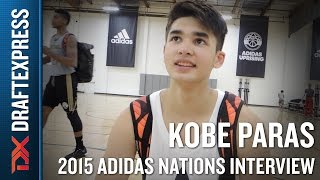 Kobe Paras 2015 Adidas Nations Interview