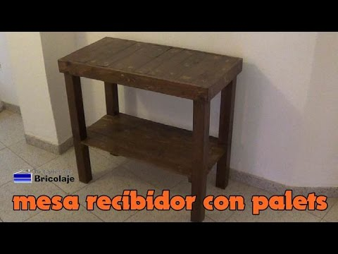 Mesa de centro con palets for Hacer mesa de madera rustica