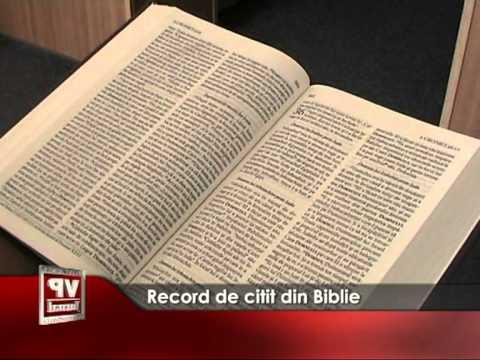 Record de citit din Biblie
