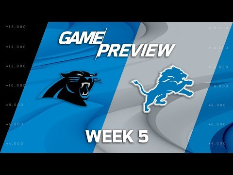 Video: Carolina Panthers vs. Detroit Lions   Week 5 Game Preview   NFL Playbook