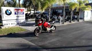 7. 2008 DUCATI HYPERMOTARD 1100S RED Motorcycle