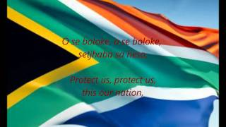 """National Anthem of South Africa - """"Nkosi Sikelel' iAfrika"""" (God Bless Africa) Includes lyrics in Xhosa, Zulu, Sesotho, Afrikaans and..."""