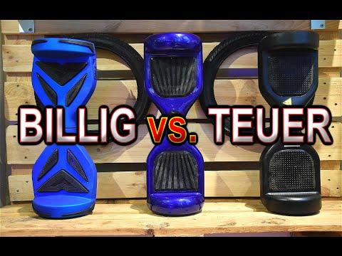 Hoverboard BILLIG vs. TEUER, Balance Board, *Test&Review* [Deutsch, German]