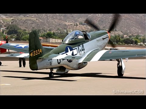 Dogfight At Air Show San Diego 2014, P-51, FW-190, And P-47