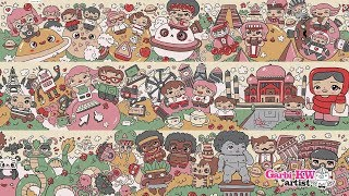 Around The World - Kawaii Doodles by Garbi KW