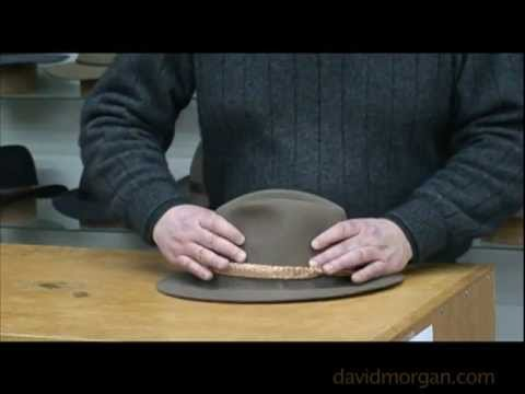Fitting your leather braided hat band to a fur felt hat