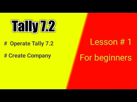Tally 7.2 for beginner --First Lesson