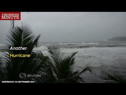 Hurricane Maria, the second major storm to hit the Caribbean this month, hit the French island of Martinique