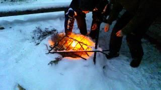9. Polaris PRO RMK 800 2013 as a bonfire lighter