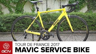 Normally spotted on the roof of the Mavic race support neutral service car, Lasty checks out the Mavic Neutral Service Bike that has saved some riders in big races.Subscribe to GCN: http://gcn.eu/SubscribeToGCNGet exclusive GCN gear in the GCN shop! http://gcn.eu/hDWhat do you think of the Mavic neutral service bike? Let us know in the comments 👇Used when riders have their team-car nowhere to be seen. The iconic yellow neutral service spare bike.Frame and forks: Canyon Ultimate / AeroadWheels: Mavic Ksyrium Tyres: Mavic Yksion Pro PowerlinkHandlebars: CanyonStem: CanyonSaddle: FizikSeatpost: KS Lev DropperShifters: Shimano UltegraBrakes: Shimano UltegraFront Mech: Shimano UltegraRear Mech: Shimano UltegraChainset: Shimano UltegraPedals: Shimano / Look / SpeedplayChainring size: 36/52Powermeter: NoneCassette: 11/25Bike weight: 7.5kgSaddle height: 74.5cmFinishing touches: FSA Bottle CagesIf you'd like to contribute captions and video info in your language, here's the link 👍  http://gcn.eu/hCWatch more on GCN...Mavic Comète Ultimate Shoes - Behind The Scenes At Mavic HQ  📹  http://gcn.eu/MavicPDHave Mavic Nailed Tubeless For Road? New Wheels And Tyres  📹  http://gcn.eu/NewMavicPhotos: © Bettiniphoto / http://www.bettiniphoto.net/ & ©Tim De Waele / http://www.tdwsport.comAbout GCN:The Global Cycling Network puts you in the centre of the action: from the iconic climbs of Alpe D'Huez and Mont Ventoux to the cobbles of Flanders, everywhere there is road or pavé, world-class racing and pro riders, we will be there bringing you action, analysis and unparalleled access every week, every month, and every year. We show you how to be a better cyclist with our bike maintenance videos, tips for improving your cycling, cycling top tens, and not forgetting the weekly GCN Show. Join us on YouTube's biggest and best cycling channel to get closer to the action and improve your riding!Welcome to the Global Cycling Network  Inside cyclingThanks to our sponsors:Alta Badia:http://gcn.eu/AltaBadia- // Maratona Dles Dolomites: http://gcn.eu/MaratonaDlesDolomites-Assos of Switzerland: http://gcn.eu/AssosKASK helmets: http://gcn.eu/KASKfi'zi:k shoes and saddles: http://gcn.eu/fizikshoes and http://gcn.eu/fiziksaddlesTopeak tools: http://gcn.eu/TopeakCanyon bikes: http://gcn.eu/-CanyonQuarq: http://gcn.eu/QuarqDT Swiss: http://gcn.eu/DtSwissScience in Sport: http://gcn.eu/SiSOrbea bikes: http://gcn.eu/OrbeaTrek Bicycles: http://gcn.eu/-TrekVision wheels: http://gcn.eu/VisionZipp wheels: http://gcn.eu/Zipppower2max: http://gcn.eu/power2maxWahoo Fitness: http://gcn.eu/Wahoo-Fitness Park Tool: http://gcn.eu/-parktoolContinental tyres: http://gcn.eu/continental-Camelbak: http://gcn.eu/camelbak-YouTube Channel - http://gcn.eu/gcnYTFacebook - http://gcn.eu/gcnFbGoogle+ - http://gcn.eu/gcnGPlusTwitter - http://gcn.eu/gcnTWLeave us a comment below!