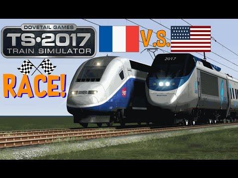 Train Simulator 2017 - Acela Express V.S. TGV Duplex (Race!)