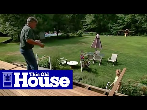 How to Pour a Concrete Deck Footing | This Old House