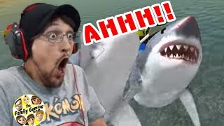 MEGALODON SHARK SCARED ME IN THE OCEAN || The Amazing Frog Part 3 w/ FGTEEV Duddy