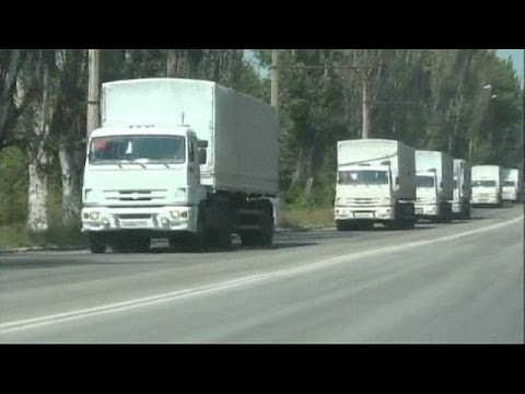 Des camions russes à moitié vides déchargés à Louhansk