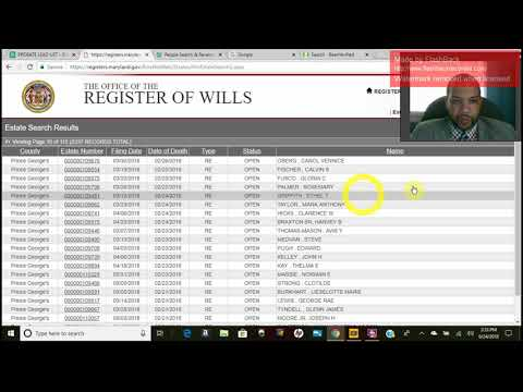 How To Create Probate Lead List for PG County MD