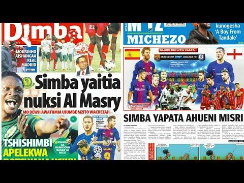 MICHEZO Magazetini Jumatano 14/3/2018:Simba yapata ahueni Misri