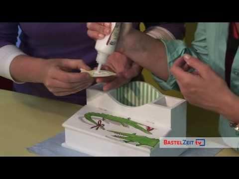 Bastelzeit TV 18 - Schreibtischbox mit Decopatch verschönert