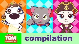 Video CRAZY GAMES - Talking Tom and Friends Minis Cartoon Compilation (22 Minutes) MP3, 3GP, MP4, WEBM, AVI, FLV Mei 2019