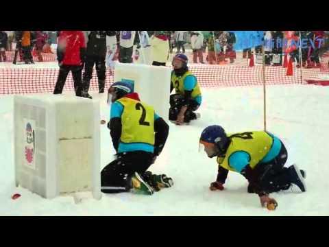 香美町で雪合戦大会が開幕