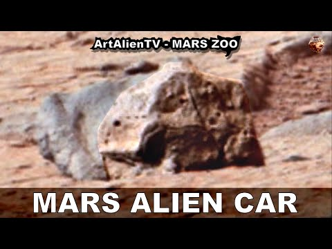 MARS ALIEN CAR: Ancient Vehicle Artefact Missed by Curiosity Rover (R). ArtAlienTV – MARS ZOO 1080p