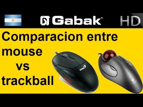 Comparación mouse optico vs laser vs trackball