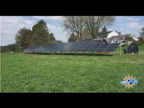 This time-lapse video shows the installation process of a ground-mounted solar panel system in Phelps, NY...