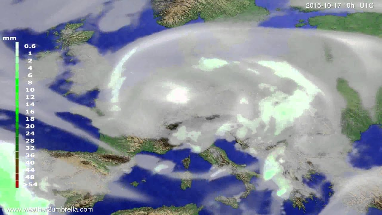 Precipitation forecast Europe 2015-10-15