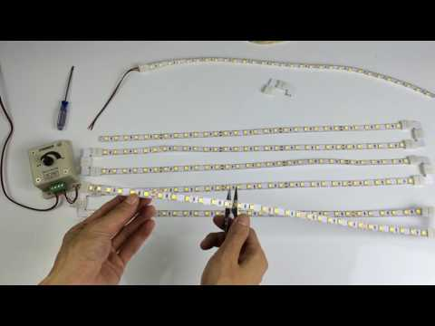 How to parallel series connection the LED strip lights