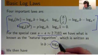 This video explains what a logarithm is and why they are useful.  We look s at basic log laws and how to apply them.  Such ideas are important for solving all sorts of problems in mathematics.Free ebook  http://tinyurl.com/EngMathYT