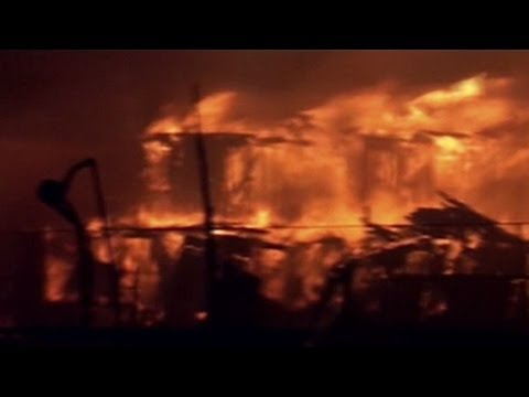 Raw Video: Six-alarm fire in wake of Hurricane Sandy