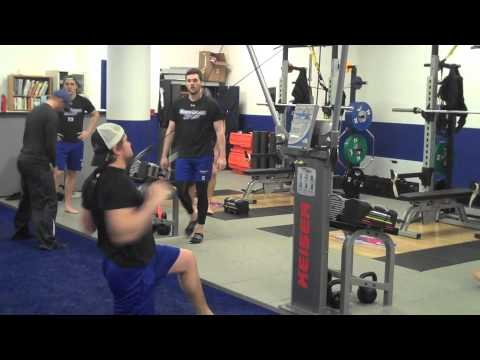 UMass Lowell Hockey Playoff Training