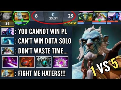 1v5 AND THEY THINK IS OVER But PL Prove Em Wrong! Never Give Up Epic Jukes Comeback WTF Dota 2
