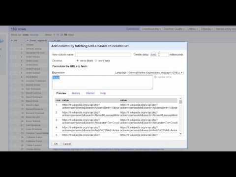 Tutoriel Open Refine : interroger Wikipedia sans programmation