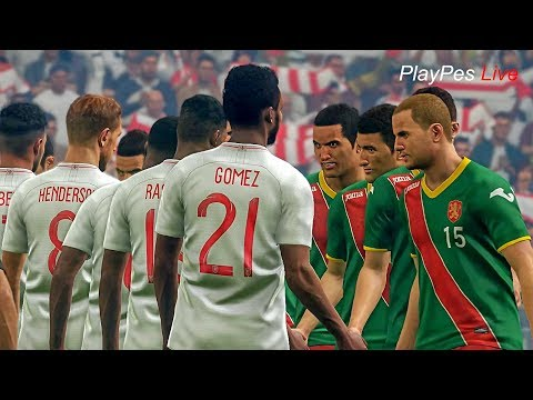 PES 2019 - ENGLAND vs BULGARIA - Full Match & Amazing Goals - PC Gameplay FHD