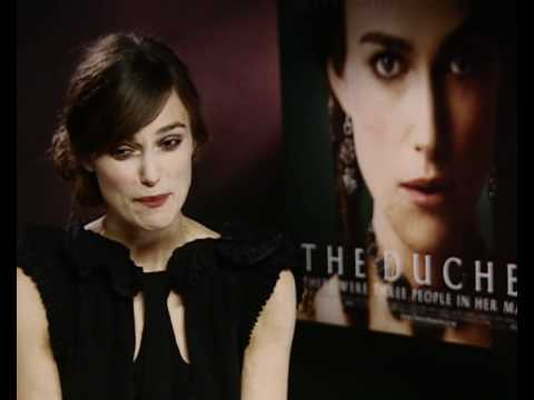 Keira Knightley interview promoting The Duchess
